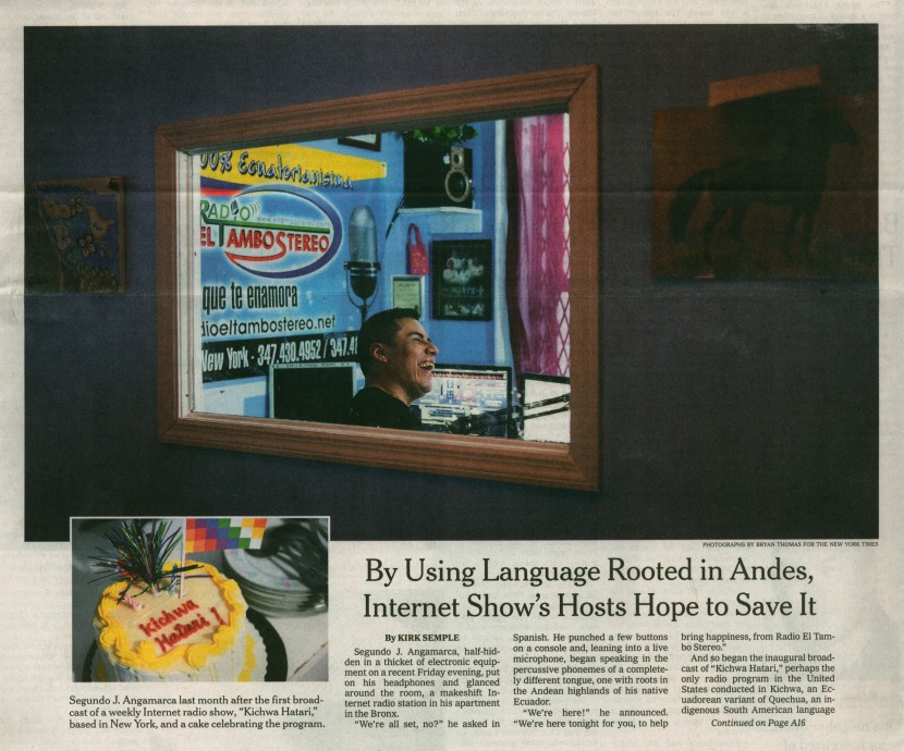 Kichwa Hatari in the New York Times