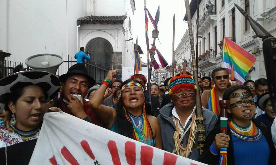 [Reportaje En Vivo] Marcha de Los Pueblos en Quito por #ResultadosYa
